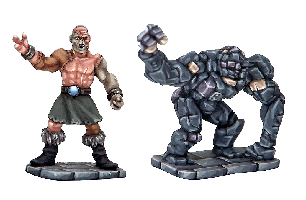 Flesh Golem and Stone Construct.