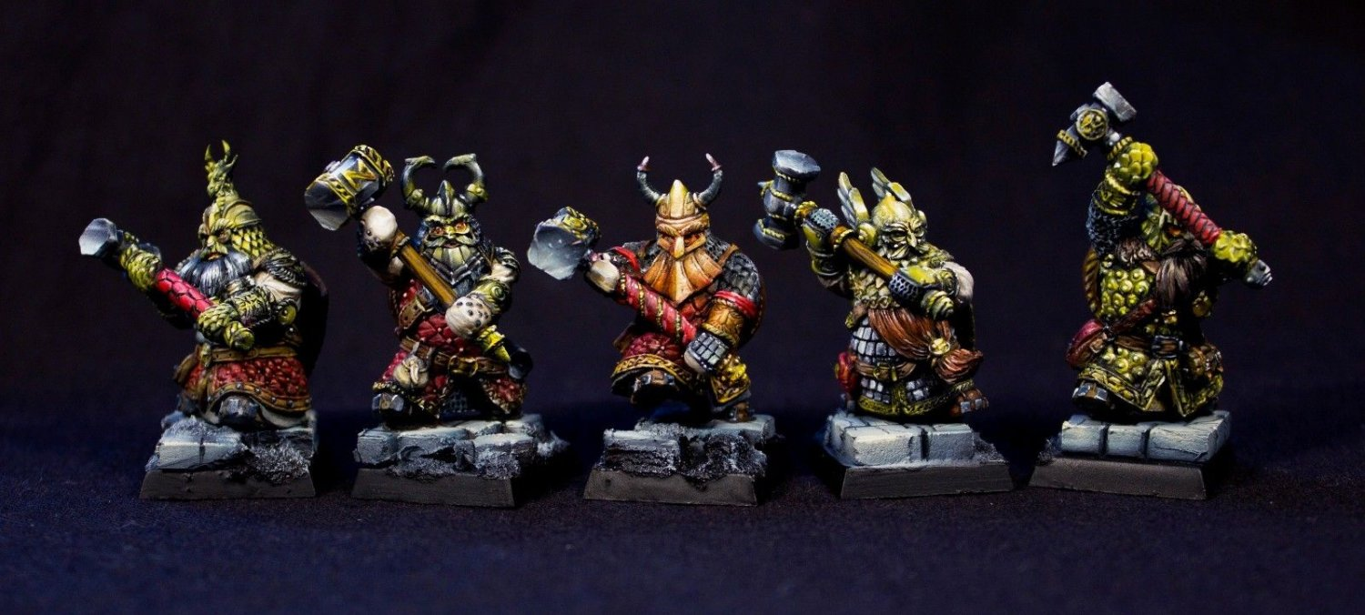 The Dwarves of Adamantine Ridge with Hammers