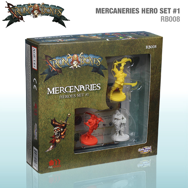 Rum & Bones: Mercenary Heroes Set #1