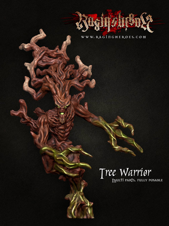 The Tree Warriors 1 box (3 Tree Warriors in resin)