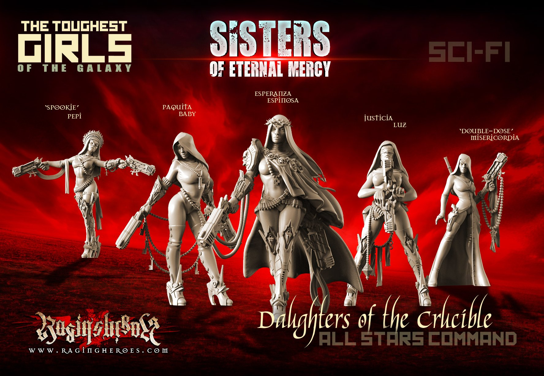Daughters of the Crucible - All Stars Command Group (Sisters - SF)