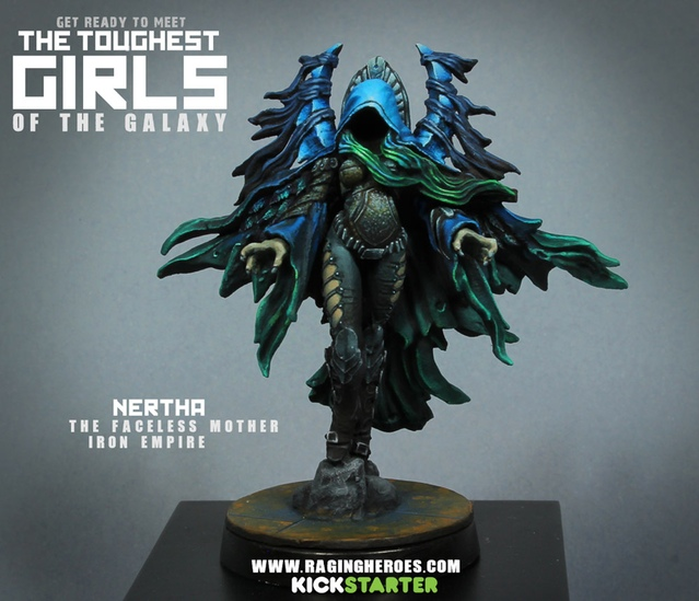Nertha, Iron Empire Freedom Fighter - 54mm scale