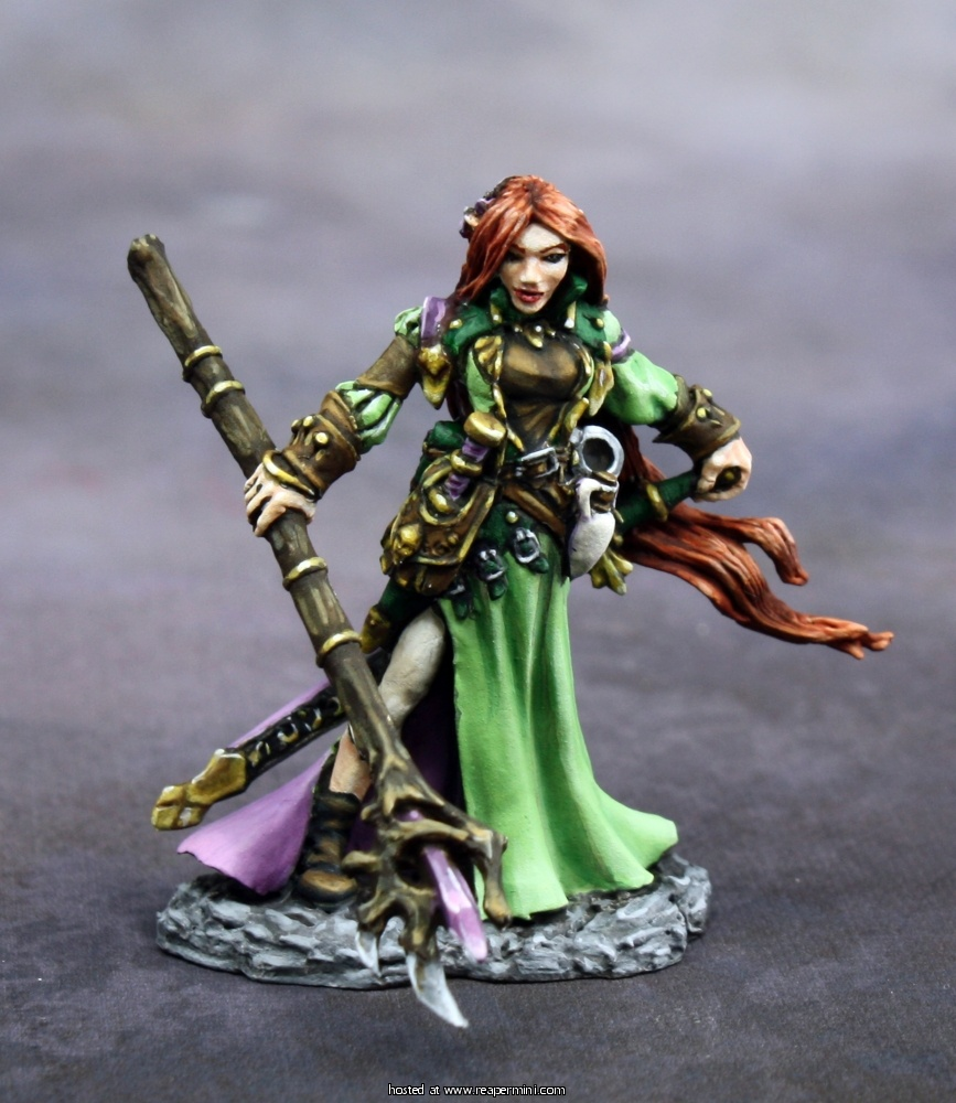 Reaper 25th Anniversary - Lysette, Elf Wizard