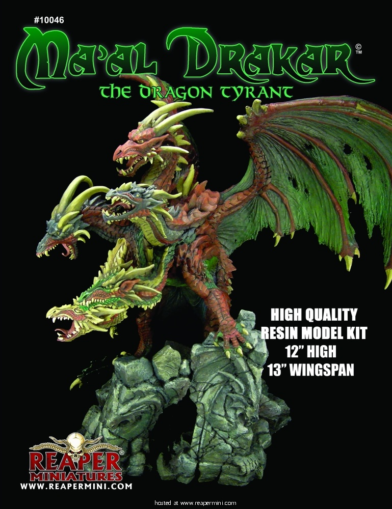 Ma'al Drakar, the Dragon Tyrant Resin Model Kit