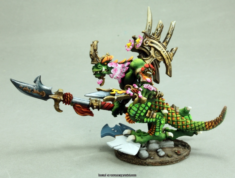 Reptus Warlord (54mm Lizardman Warrior)