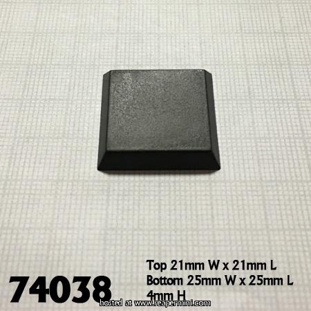 "1"" Square Plastic Flat Top Base"
