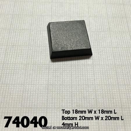 20mm Square Plastic Flat Top Base