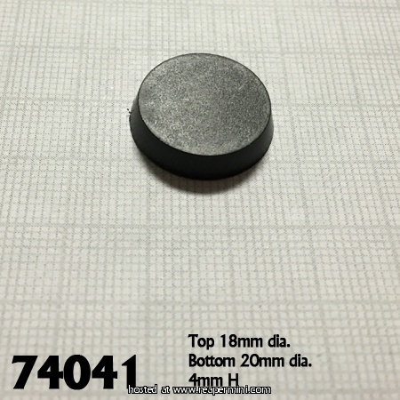 20mm Round Plastic Flat Top Base