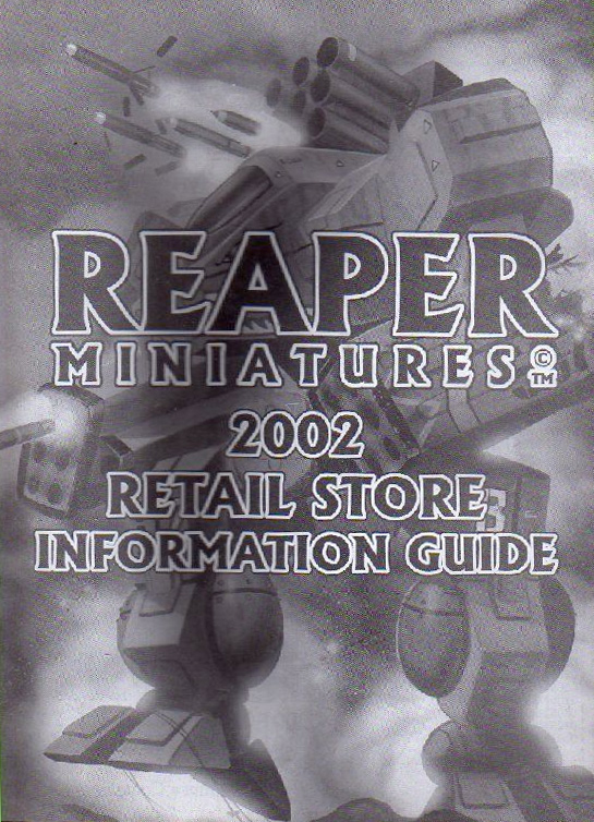 Reaper Miniatures 2002 retail store catalogue