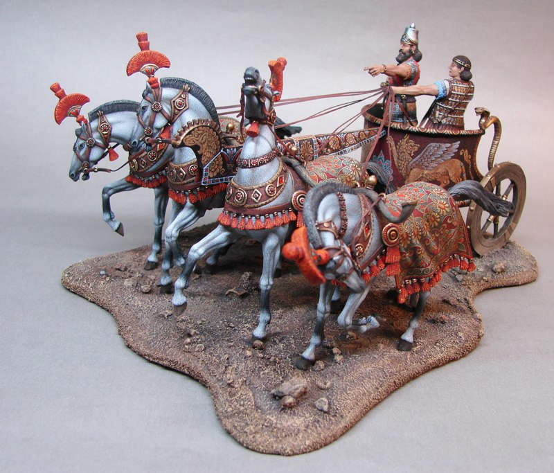 King Chariot with four horses