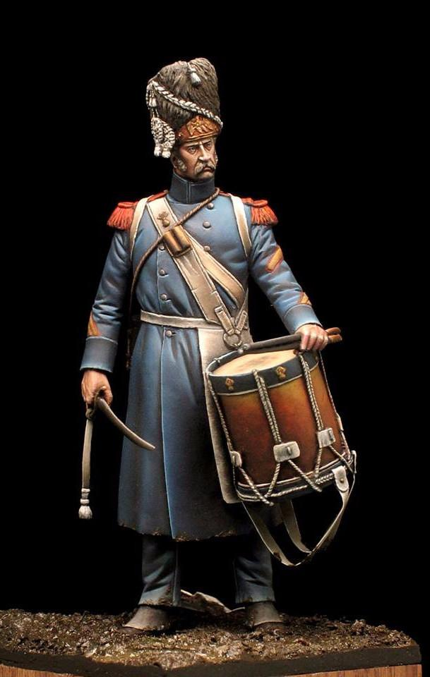 While the Drums Sound - Old Guard Grenadier Drummer, Plancenoit 1815.