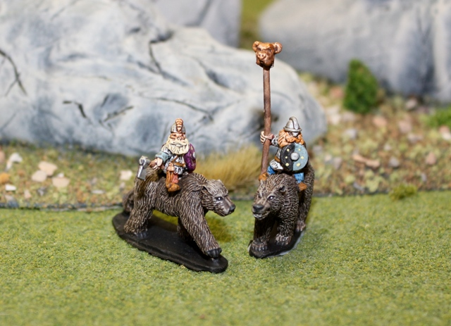 Dwarf Cavalry Command on Bears
