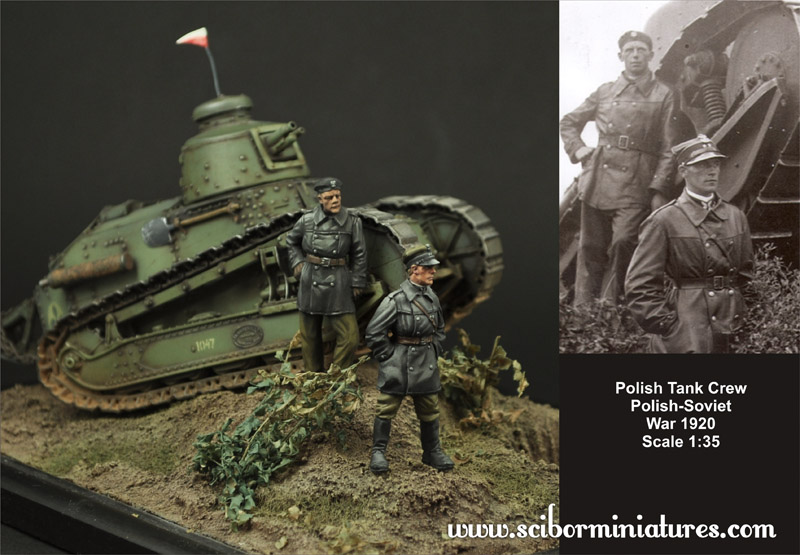1:35 Polish FT17 Tank Crew set