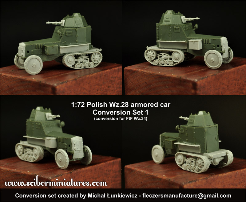 1:72 Polish Wz.28 Conversion set1