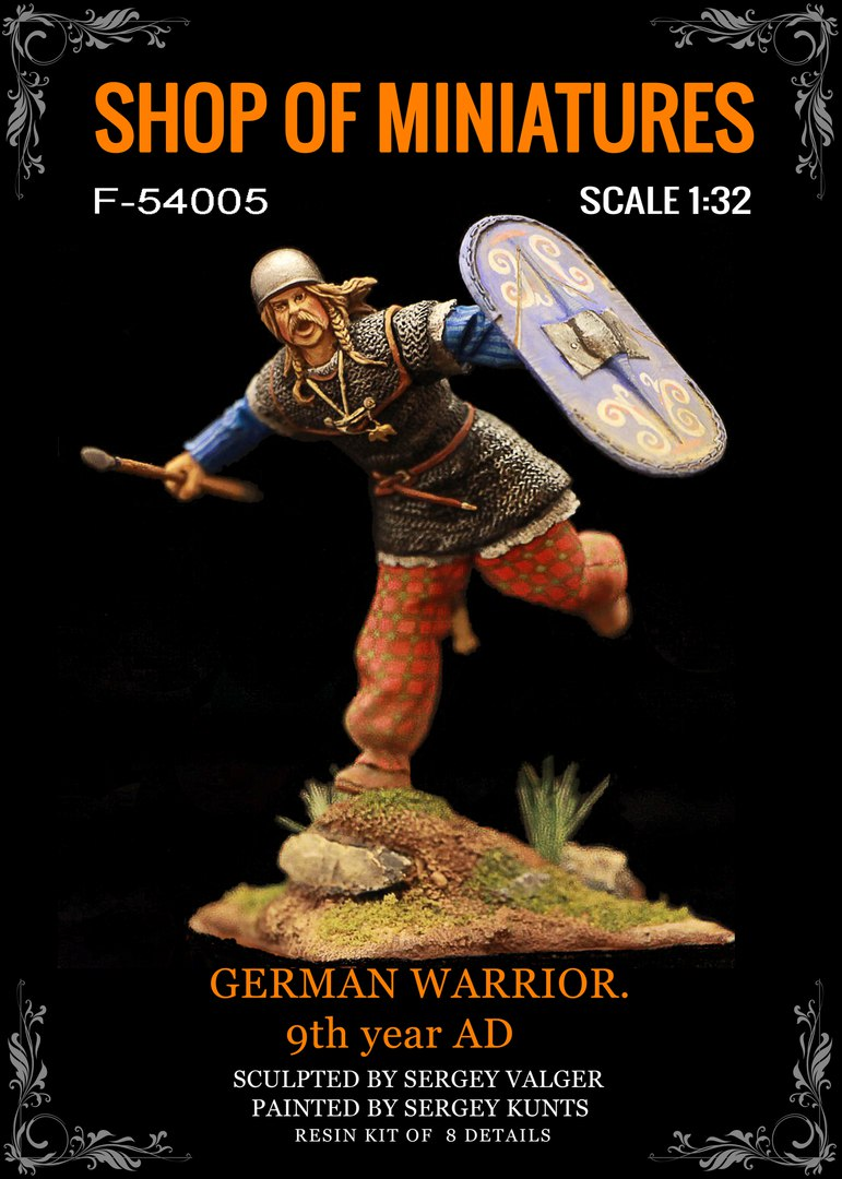 German Warrior. 9Th Year Ad, 54Mm