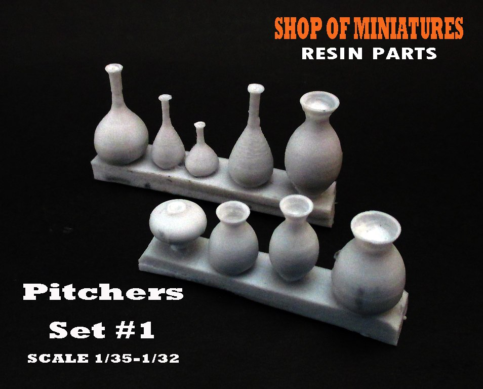 Bs-006 Pitchers (Кувшины). Set #1. 1/35-1/32