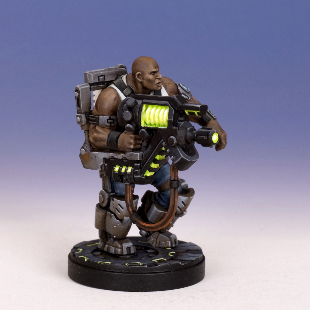 Sedition Wars - Barker Zosa with Pulse Cannon (metal version)