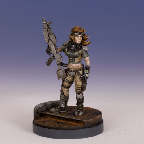 Sedition Wars: Female Conscript Terrorist (resin version) (limited to 100)