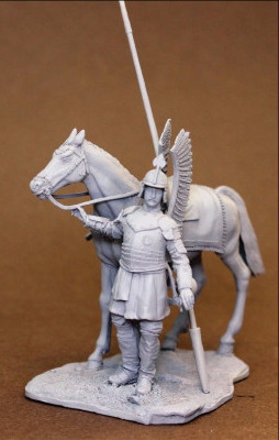 Polish Winged Hussar, with horse